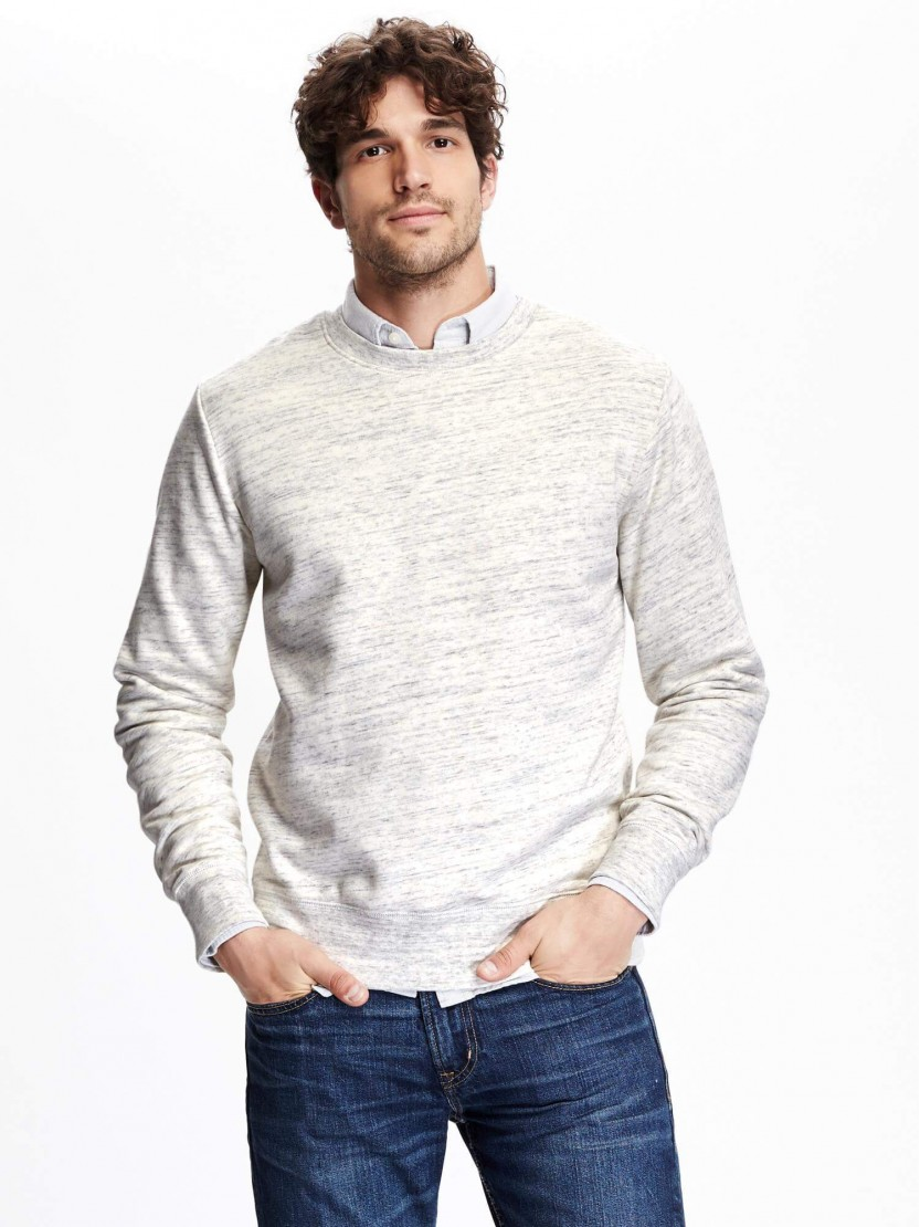 Suéter de lã gola redonda popup