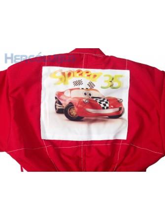 Macacão Infantil de Piloto F1 e McQueen + Boné